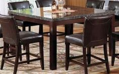 "Acme Furniture Danville Counter Height Marble Top Dining Table - $529, 54""x54"