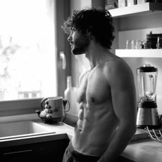 men male sexymen sexymale coffee coffeelover beard morning coffeeaddict café cafe belle gueule beau mec Thanks to Men Coffee, Decaf Coffee, Black Coffee, Coffee Break, Coffee Time, Morning Coffee, People Drinking Coffee, Good Morning Handsome, Summer Couples