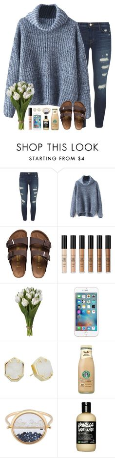"""3 days off of school in a row :))"" by sarahc01 ❤ liked on Polyvore featuring J Brand, Birkenstock, Smashbox, Kendra Scott and Aurélie Bidermann"