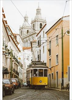 Inch Print - High quality prints (other products available) - Famous yellow tram on the narrow streets of Alfama district, Lisbon, Portugal - Image supplied by Fine Art Storehouse - Photograph printed in the USA Lisbon Tram, Portuguese Culture, Fine Art Prints, Canvas Prints, Stock Foto, Portugal Travel, Design Moderne, City Break, City Streets