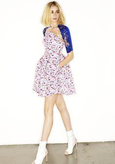 KIA - 3/4 PLISSE DRESS