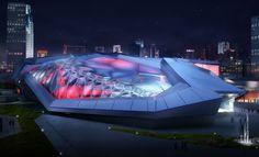 Riverside Sports Center, China. Seats 40,000