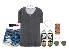 """//hey, soul sister//"" by kaley-ii ❤ liked on Polyvore featuring Levi's, T By Alexander Wang, Converse, NARS Cosmetics, Ray-Ban and Accessorize"