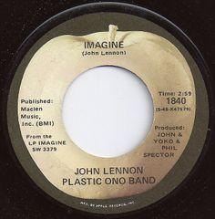 Imagine / John Lennon Plastic Ono Band / on Billboard 1971 45 Records, Vinyl Records, Rare Records, The Beatles, Beatles Albums, Apple Records, Remembering Dad, Imagine John Lennon, Musicals