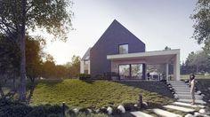 Projekt nowoczesnego domu nad jeziorem