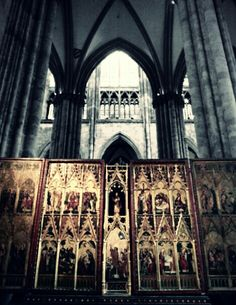 Cathedral's interiors, gold and marble in Cologne, Germany