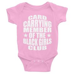Infant short sleeve black girls club tee