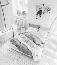 Good morning from memory foam mattress bedroom! I'm used mine now over 6 months and can't be happier! Photo Art by Bed Goals, White Bedroom, Home Decor Kitchen, Bed Design, Room Inspiration, Indoor, Interior Design, Furniture, Bed Room