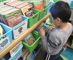 I like how the books are organized by reading levels. This would be great to have in younger classrooms!