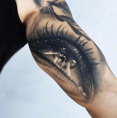 Mr. Colombia serves up realism on a silver platter. #InkedMagazine #eye #realism #tattoo #tattoos #inked #art