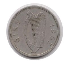 Irish One Shilling 1963 Coin (Code:JMC1999) by COINSnCARDS on Etsy