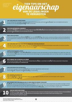 Ten tips to increase the ownership of students in their learning process Visible Learning, Deep Learning, Learning Process, Mobile Learning, Teach Like A Champion, Co Teaching, Effective Teaching, School Info, Learning Theory