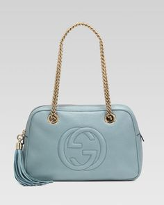 Soho Leather Double-Chain-Strap Shoulder Bag, Splash by Gucci at Neiman Marcus.