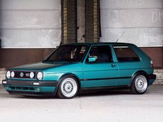 1992 VW GTI 16V - I had this exact car!! Euro lights!! She was a beauty
