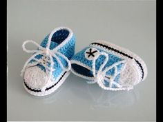 كروشية حذاء أطفال بوت (حذاء اسبور)الجزء الاول part(1\2)Crocheted shoe children - YouTube