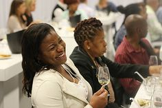 Guests learn the art of wine at the Nederburg Wines and Robertsons Herbs & Spices Taste Theatre