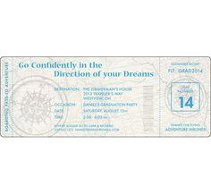 Graduation Travel Boarding Pass Invitation / Here's your boarding pass to graduation fun!