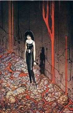 El personaje de Muerte, escrito por Neil Gaiman para su serie Sadman, en esta ocacion ilustrado por el genial Moebius (me encanta cuando estas cosas pasan)