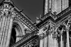 A view of Cathédrale Notre Dame de Paris #notredame #paris #wanderlust #travel #architecture #bridgetbarnesphotography #traveler #traveller #traveling #travelling #travelgram #travelingram #cathedral #blackandwhite #gratitude #theworldisstillbeautiful #beautifulworld #seetheworld