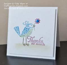 Stampin' Up ideas and supplies from Vicky at Crafting Clare's Paper Moments: Birdies bearing gifts