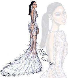 Met Gala 2015 by Hayden Williams Kim Kardashian West wearing Roberto Cavalli