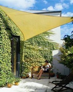 Coolaroo Triangle Shade Sail Kit: Remodelista