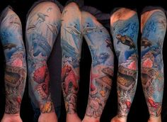 fondo del mar tatuaje - Buscar con Google