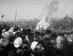 Just 24 hours after his murder, Gandhi's son set his funeral pyre aflame on the banks of New Delhi's holy Jumna River, January 1948.