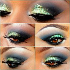 Eye makeup will complement your beauty and make you look fabulous. Learn how to use makeup so that you are able to show off your eyes and stand out. Learn the most beneficial ideas for applying make-up to your eyes. Eyeshadow Makeup, Makeup Art, Makeup Tips, Beauty Makeup, Makeup Ideas, Eyeshadow Ideas, Makeup Stuff, Glitter Eyeshadow, Makeup Tutorials