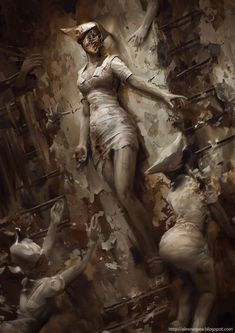 "Horror Movie Art : ""Silent Hill"" 2006 ""Silent Hill Fan Art"" by AlexNegrea @ deviantart Arte Horror, Horror Art, Scary Movies, Horror Movies, Dark Fantasy, Fantasy Art, Pyramid Head, Video X, Norse Mythology"