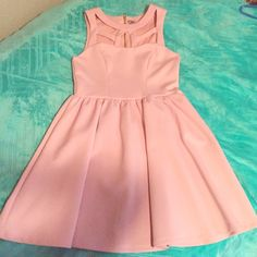 Poof!Light Pink dress. new and Haven't wear it.Price negotiable. Poof! Dresses Mini