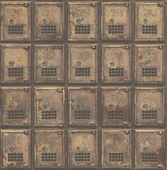 Brewster Home Fashions Vintage P. Boxes Distressed Metal x Geometric Panel Wallpaper Color: Charcoal Tile Wallpaper, Metallic Wallpaper, Embossed Wallpaper, Wallpaper Panels, Wallpaper Samples, Wallpaper Roll, Classic Wallpaper, Luxury Wallpaper, Wallpaper Designs