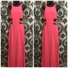 Small pink dress Sexy dress Low back 90's style Side slits  Perfect for Halloween  The material girl  Marilyn Monroe Dresses Maxi