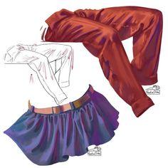 Digital Painting Tutorials, Digital Art Tutorial, Art Tutorials, Texture Drawing, Drawing Reference Poses, Drawing Clothes, Fashion Sketches, Line Art, Art Drawings