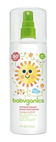 Babyganics SPF 50 Mineral Based Baby Sunscreen Spray 6 Ounce *** Click on the image for additional details.