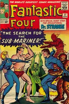 Fantastic Four #27. The Sub-Mariner and Dr Strange. Cover by Jack Kirby.