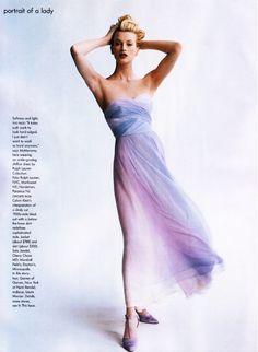 ☆ Kristen McMenamy | Photography by Steven Meisel | For Vogue Magazine US | March 1995 ☆ #Kristen_McMenamy #Steven_Meisel #Vogue #1995