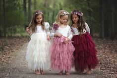 White Lace and Pink Tulle Lovely Flower Girl Dresses - Promfy Wedding Flower Girl Dresses, Little Girl Dresses, Flower Girl Dresses Burgundy, Flower Girl Dresses Country, Vintage Flower Girls, Lace Flower Girls, Girls Party Dresses, Dresses For Kids, Childrens Bridesmaid Dresses