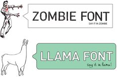 spell llama | Playful Font Generators That Spell Words With Zombies And Llamas
