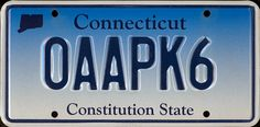 Plate Connecticut Licence Plates, Constitution, Connecticut, Wifi, Usa, Frames, Record Player, Brother, License Plates