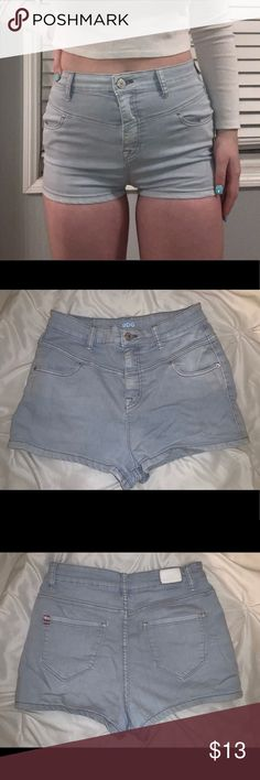 94620c23c Urban outfitters super high rise seam short Light blue high waisted shorts.  Super stretchy and