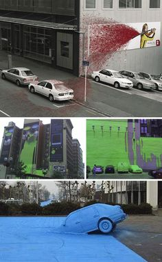 Guerilla Marketing With A Hemi: Wild Campaigns With Cars   WebUrbanist