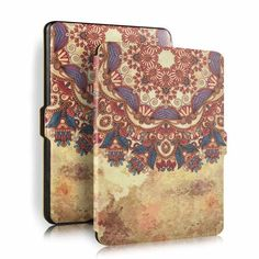 9e48010c9ab2 Protective Painting Pattern PU Leather Skin Cover Case Holder funda capa  for Amazon Kindle Paperwhite 2015 1 2 3
