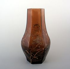 Émile Gallé 「アザミ文様 角形花瓶」