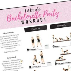 Free Download | Bachelorette Party Bootcamp Workout