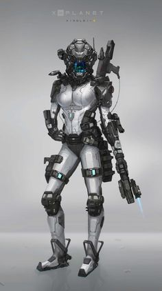 Beautiful Science Fiction, Fantasy and Horror art from all over the world. Female Cyborg, Female Armor, Cyborg Girl, Futuristic Armour, Futuristic Art, Combat Armor, Combat Suit, Cyberpunk Girl, Les Continents