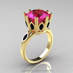 Classic 14K Yellow Gold 5.0 Ct Pink Sapphire by artmasters on Etsy, $1549.00