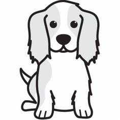 Cavalier King Charles Spaniel Dog Cartoon Photo Cut Out Cartoon Photo, Cartoon Dog, Cartoon Drawings, Dog Template, Templates, Dog Films, Dog Outline, Cavalier King Charles Spaniel, Dog Coloring Page