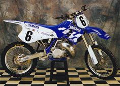 Jeff Emig Yamaha YZ 250 factory 1995...  The WR250 is more roudy than this. If Yamaha would've took the wide ration tranny outta the WR, and put it on the YZ, the bike would've been untouchable!!!