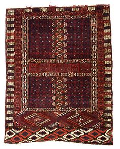 Kizil Ayak engsi, Approximately 4ft. 9in. x 3ft. 9in. (146x115), Turkmenistan circa 1850